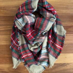 Classic Plaid and Super Soft Blanket Scarf